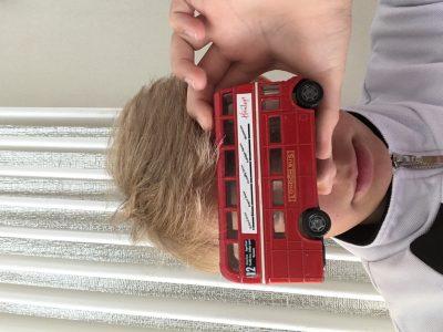 Externat des enfants nantais à Nantes Bus londonien en souvenir de notre périple familial à Londres