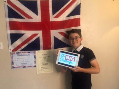 Collège Jeanne D'Arc Paray le Monial 4ème A Mon petit frère  Mahé CLAUDE en CM2, est fan de l'Angleterre !
