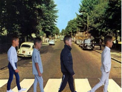 MONTAUBAN ,Collège saint théodart  La photo représente une photo des Beatles sur le passages piétons de Abbey Road  le plus célèbres passage piétons du monde  donc j' ai voulu représenter la photo moi meme