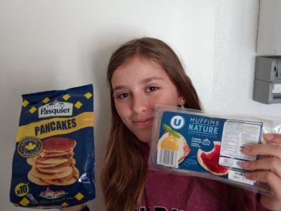 Juliette Martinez, du Collège Debussy à Romans sur Isère (26100). Chez moi le matin, c'est English Breakfast !