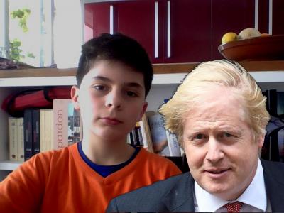 Ville : Cormeilles en Parisis Collège : Louis Hayet  Photo de moi et Boris Johnson.
