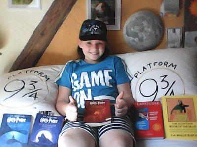 Collège Saint-Antoine à Phalsbourg  L'anglais m'accompagne partout pour ma plus grande joie !!! Vive Harry Potter !