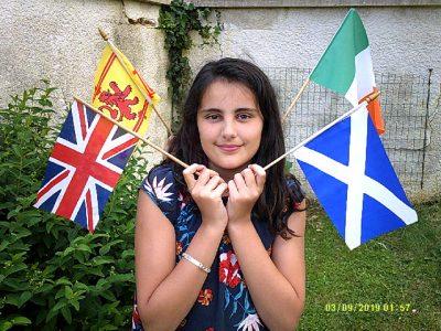 le collège Jean Rostand - La Rochefoucauld  j ai ressorti les drapeaux des pays anglosaxons