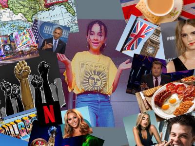 """Bonjour ! Je me présente, je m'appelle Sarah, je suis au collège Georges Brassens à Taverny ! Ce collage m'a prit pas mal de temps, j'espère qu'il vous plaira, vous avez donc une sorte de """"dilemme"""" entre le Royaume Uni et Les Etats Unis ! Enjoy it !"""