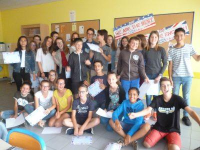 Chemillé en Anjou  Collège Saint Joseph Bravon aux 5èmes B pour leur participation et leurs très bons résultats au big Challenge 2017 !