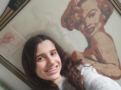 Saint-Vinsent petit selfi avec Marilyn Monroe