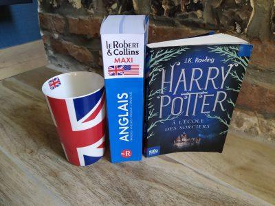 """AUFFAY, Collège René Coty  Au coin du feu avec une tasse de thé et un bon roman """" HARRY POTTER """", on voyage directement en Angleterre malgré le confinement."""