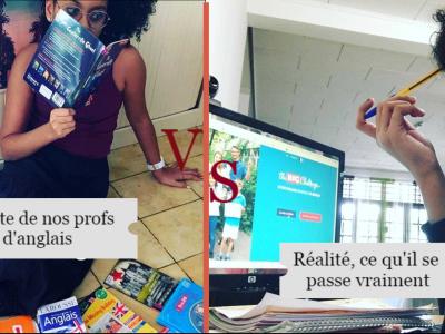 Hi, je m'appelle Saïda, Je suis en 5 ème 1 en Guyane, dans le collège de Saint Pierre. Et j'ai choisit de mettre en valeur l'anglais de façon humoristique. Et plus original, j'espère que cette photo vous plairas. Car moi j'en suis fière, et espère gagner avec ça. Photo envoyé le 20.05.2020