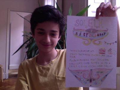 """Grenade 31330 Collège Grand Selve """"My birthday card, home made one !"""""""