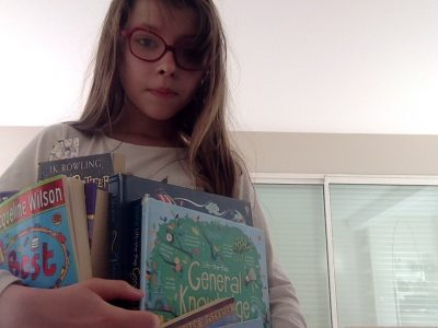 City:Poitiers Name of the secondary school:La providence .Hi guys hope every body is well and just a lil' pic with my English books .I love reading so much and I have lots of books.On this pic' I just put a few of them .My books:Opal Plumsted ,General Knowlegde ,Harry Potter and the chamber of Secrets ,The palace of laughter ,Timelines of World History,Best Friends)PS:My books come from ,Wales,England and Scotland.♥︎♥︎♥︎
