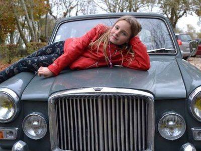 Aigrefeuille d'Aunis, Collège du Saint Sacrement. My car is an Austin Princess built in 1968, little Rolls so British!