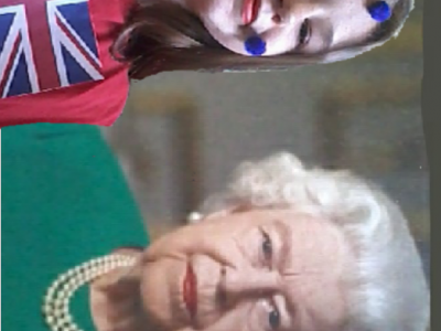 In this photo with my best friend, queen Elizabeth.
