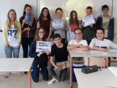 Félicitations à tous les élèves du collège Antoine de Saint Exupéry, 85170 Belleville sur Vie!