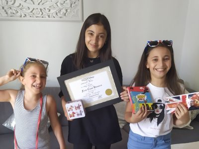 École et collège Assomption St Marc St Aignan à Orléans, 3 sœurs élèves de Natalie Di Lorenzo qui ont participé avec assiduité à Clik'n play, the Big Challenge et sa game zone.