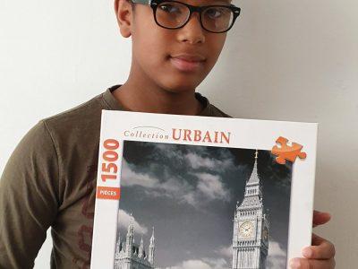 Ville:Montpellier Nom:Wahil Ahamada J'ai bien aimé cette photo car il y a le carton du Puzzle de Londres que j'ai pris beaucoup de plaisir à faire
