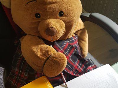 Angers - Collège St Charles : Teddy surveille les fautes d'Anglais