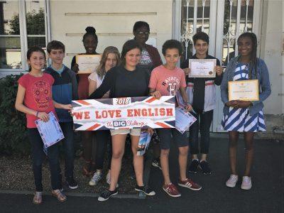 Elèves de 5ème du Collège Ste Jeanne d'Arc, TOURS (37)  Congratulations to all of you! Mrs B.