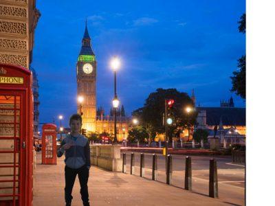 Sucy-en-Brie / Collège du parc :  Bonjour, petit selfie à Londres plus vue sur Big Ben.