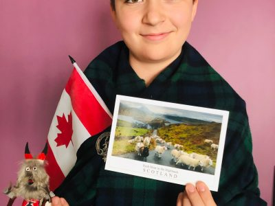 """Hello, I am Vitalii OLARD. I am 12-years old and I live in Lyon (France). I go to the """"College Vendome"""" secondary school, in the 3e5 classroom. I am keen on Canada and Scotland. I have already visited Quebec and Ontario, I did appreciate to visit American-indian villages with my family. Besides, I have visted Scotland thrice. I like tartan clothes and all the Scottish culture. Kind regards, Vitalii OLARD 130 rue Vendome, 69006 LYON (France)"""