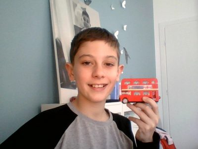 Monaco Collège Charles III It's me with a little lego London bus
