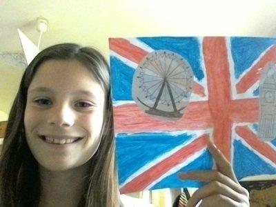 C'est moi avec mon drapeau du royaume uni personnalisé. Je suis au collège Ray Charles de Fabrègues (34)