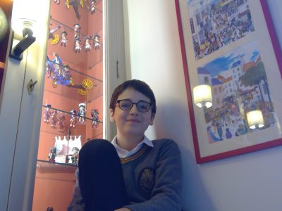 Limoges collège beaupeyrat  Devant mes Playmobil anglais du 18eme a la fin du concours