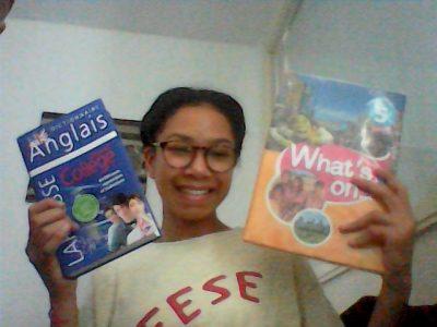 POITIERS, UNION-CHRETIENNE DE SAINT CHAUMOND Petite photo avec mes deux manuels préférés :)
