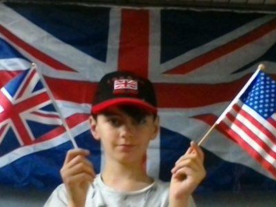 Les drapeaux, le plus grand symbole de ces deux pays,, les Etats-Unis d'Amérique et le Royaume-Unis. Soisy-sous-Montmorency, Collège Albert Schweitzer