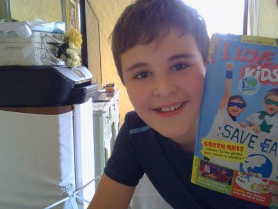 "Cuers, La Ferrage. I like the newpaper ""I love English for kids"" I read this avery month with smie"