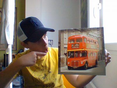 Salamone Enzo college Jean moulin : jadore les bus anglais de London