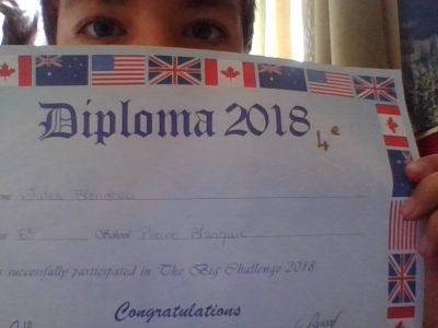 Villeneuve de Marsan Collège pierre blanquie. Voici mon diplôme 2018 ou j'ai fini 4ème.