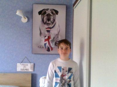 Varennes sur Allier  collège Saint-Exupéry    Mon chien à un coté très British  !!!