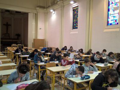 Béziers - Collège St Madeleine - 4a / 4b et 5b - Concentration extrême