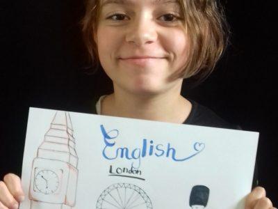 Feurs , Collège le Palais. J'ai fais un dessin car je n'ai pas d'objet représentant l'anglais et que j'aime dessiner.