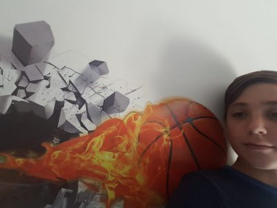fonsorbes collége cantelauze ma photo parle de la NBA j'adore le basket