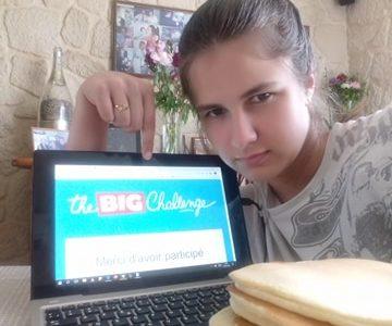 Sarah SEBAN du collège du parc dans la ville de Sucy en brie. Des pancakes pour préparer le Big Challenge.
