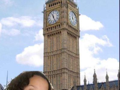 Paris, Collège Sainte Elisabeth . J'ai fait un montage comme quoi je suis a Londres, mais en réalité je suis à la campagne ...