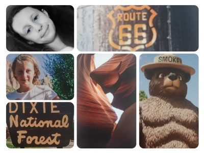 Collège saint louis à Toulouse                            Welcome to USA Smokey bear, Antelope Canyon, Signal of National park, Road 66 And me