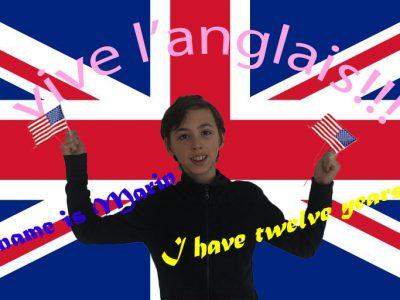 Ville : Strasbourg Nom du collège : Lucie Berger  j'ai fait un petit montage photoshop en prenant les drapeaux des USA et de l'Angleterre. Puis j'ai ajouté du texte pour rendre la photo plus vivante!!! (j'ai choisi de faire un montage car la photographie et la vidéo se sont mes deux passions)  Marin Lefebvre