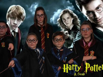 Caudry, Collège Jacques Prévert,  Je voulais mettre cette photo qui symbolise l'angleterre avec JK Rowling et la passion des jeunes pour cette saga. Je suis à gauche sur cette photo et ce sont mes soeurs et mon frères dessus. Et ce serait génial de gagner la caméra sport pour filmer nos moments en famille.  Merci Thibault HISBERGUE
