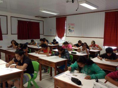 Les 4eme du CED de RIKITEA en Polynesie Française