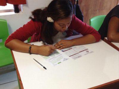 Des élèves passent The Big Challenge même en Polynésie Française dans les îles Gambier! Collège deRikitea.