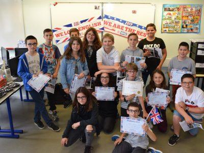 Bravo aux 5ème du collège La Vallée du Lys à Vihiers!!