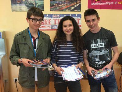 Montfort l Amaury College Maurice Ravel Nos 3 premiers élèves de 3 eme !