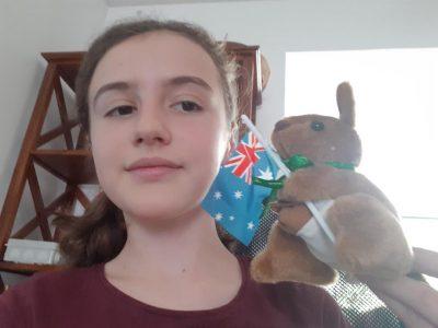 Toulouse émilie de Rodat un kangourou d'Australie chez moi