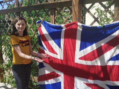 Limoux a saint joseph .    Je vous présente le drapeau de l'Angleterre .