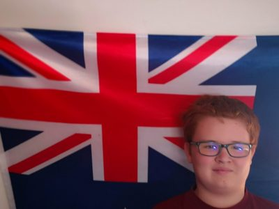 corbie collège euguéne lefebvre  here is my english flag hanging in my room