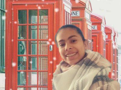 la ville et le nom de mon collège sont : collège Sainte Anne de Montesson   C'est une photo de moi  avec une cabine téléphonique car quand on me parle de london c'est l'un des premiers mots qui me vient a l'esprit donc j'espère que cette photo va vous plaire =)  bonne journée  Sana