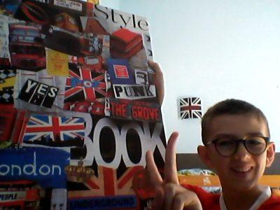 Tourette-Levens Collège René Cassin     un selfie en compagnie d'un poster  100 % londonien
