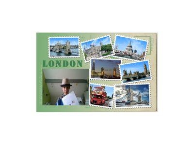 Martin Belfort collège léonard de vinci  j'ai pensé à posez avec mon poster de Londres